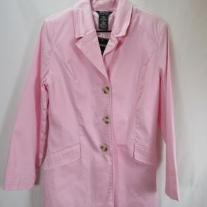 George Stretch Pink Trench Coat sz 12 NWT